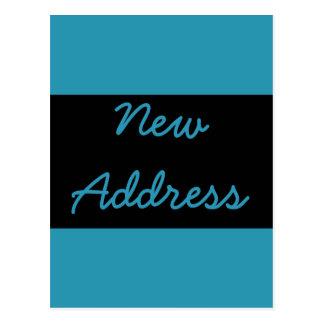 turquoise blue Address Change Postcard