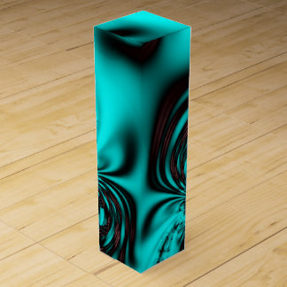 Turquoise Blue Design Wine Gift Box