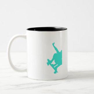 Turquoise; Blue Green Skater Mugs