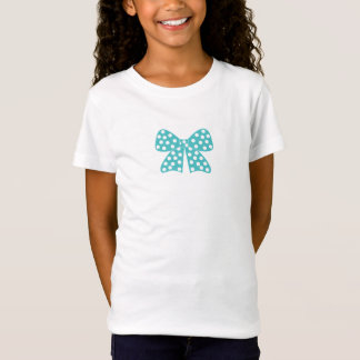 Turquoise Bow with white Dots - Graphic, Cute T-Shirt