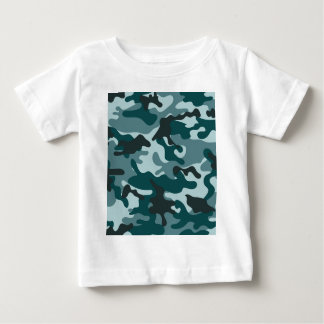 Turquoise Camouflage pattern Baby T-Shirt