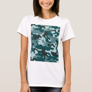 Turquoise Camouflage pattern T-Shirt