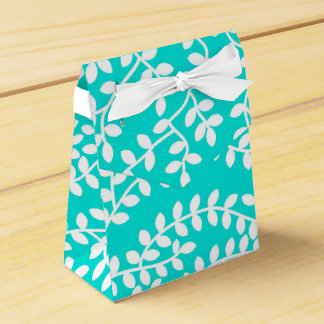Turquoise Forest Favour Box