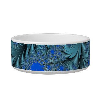 Turquoise Fractal Pet Water Bowls