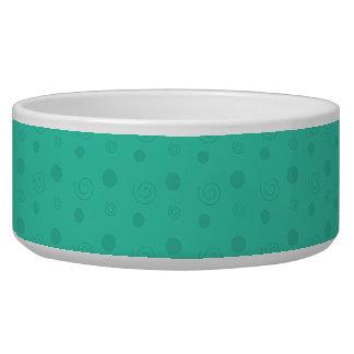 Turquoise Fun Dog Water Bowls