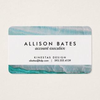 Turquoise Granite Stone Layered Wave Print