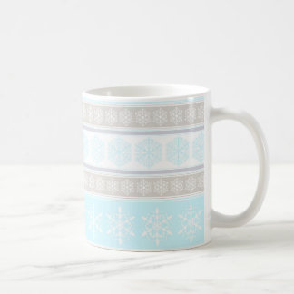 Turquoise, Grey and Beige Snowflake Mug