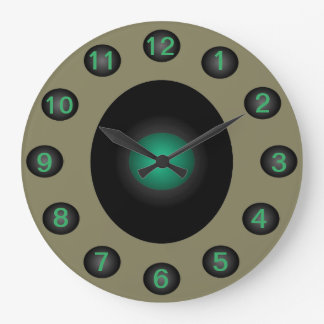 Turquoise Grey Modern Home Designer Contemporary Large Clock