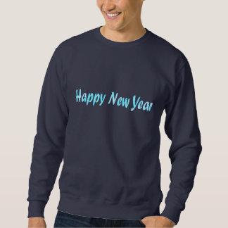 turquoise happy new year sweatshirt