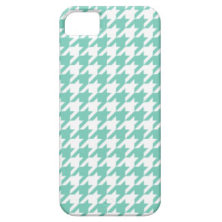 Turquoise Houndstooth iPhone 5 Case