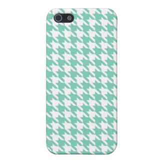 Turquoise Houndstooth iPhone 5 Covers