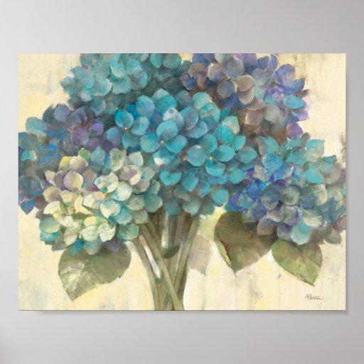 Turquoise Hydrangea Posters