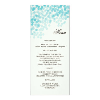Turquoise Light Shower Menu Card
