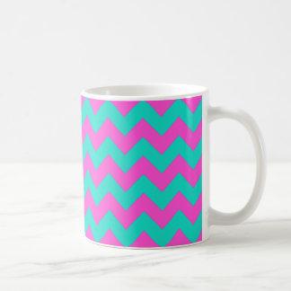 Turquoise Magenta Chevron Coffee Mug
