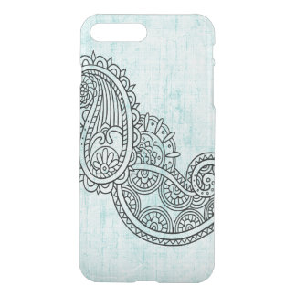 Turquoise Mehndi Motif Uncommon iPhone7 Plus Case