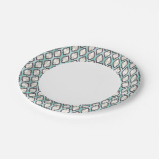 Turquoise Moroccan Pattern 7 Inch Paper Plate