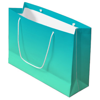 Turquoise Ombre Large Gift Bag