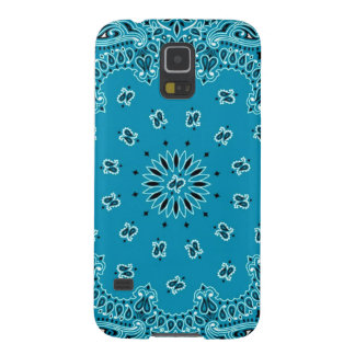 Turquoise Paisley Western Bandana Scarf Print Case For Galaxy S5