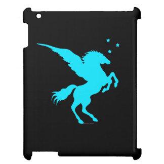 """""""Turquoise Pegasus"""" Black iPad Case"""