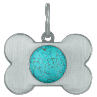 turquoise pet tags