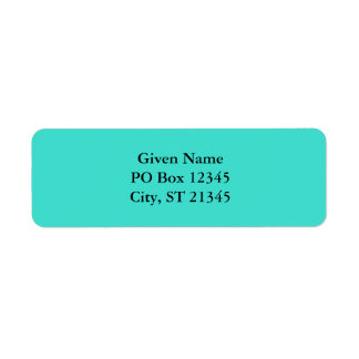 Turquoise Return Address Label