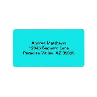 Turquoise Solid Color Label
