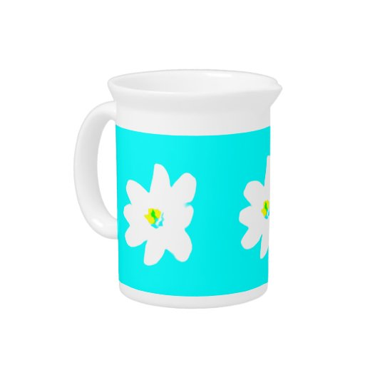 Turquoise Sunshine Floral 4Penelope Pitcher