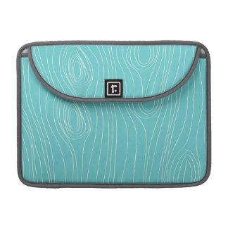 Turquoise, Teal Blue, Wood Grain MacBook Pro Sleeves