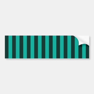 Turquoise Vertical Stripes Style Decor Bumper Sticker