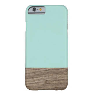 Turquoise Wood Barely There iPhone 6 Case