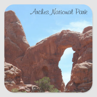 Turret Arch- Arches National Park Square Sticker