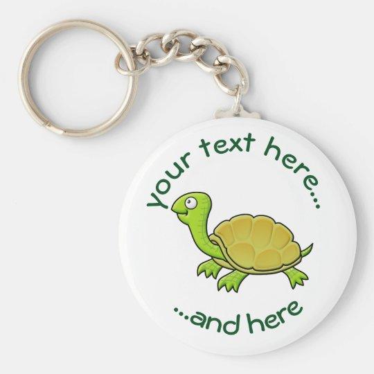 Turtle Basic Round Button Key Ring