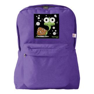 Turtle(Black Bg) Backpack, Amethyst Backpack