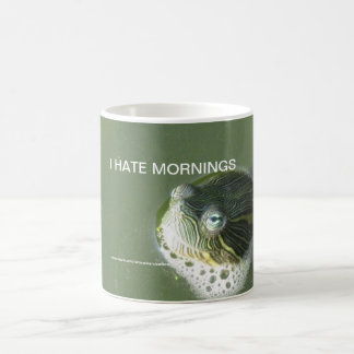 Turtle I Hate Mornings Coffee Mug