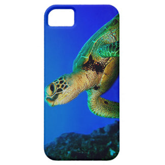 Turtle In The Deep Blue iPhone 5 Cases