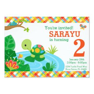 "Turtle: Matte 5"" x 7"", Standard white envelopes 13 Cm X 18 Cm Invitation Card"