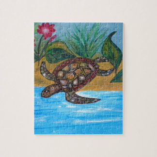 Turtle or tortoise accessories jigsaw puzzle