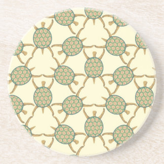 Turtle pattern coaster