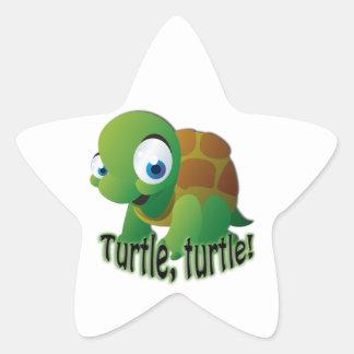Turtle! Star Sticker