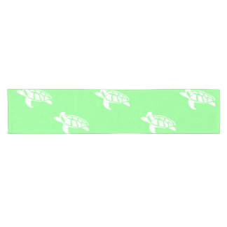 Turtles on Sea Green Short Table Runner