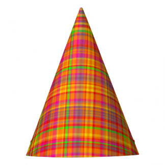 Tutti Frutti PLAID 1-PAPER PARTY HATS