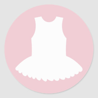 Tutu baby shower stickers for ballerina girl