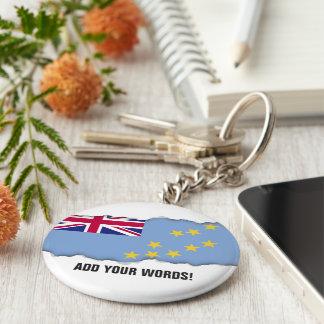 Tuvalu Flag Basic Round Button Key Ring