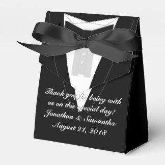Tuxedo Black Bowtie Favor Boxes