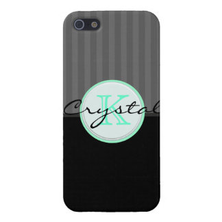Tuxedo Black Circus Stripes Personalized Iphone 5 iPhone 5 Case