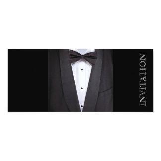 Tuxedo Black tie party formal 10 Cm X 24 Cm Invitation Card