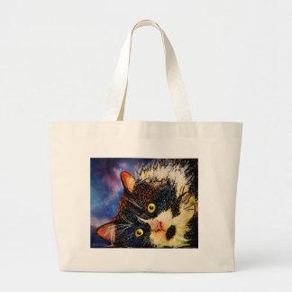 Tuxedo Cat Large Tote Bag