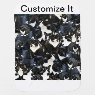 Tuxedo Cat Madness Stroller Blankets