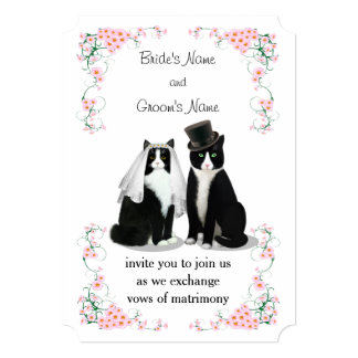Tuxedo Cat Wedding Card