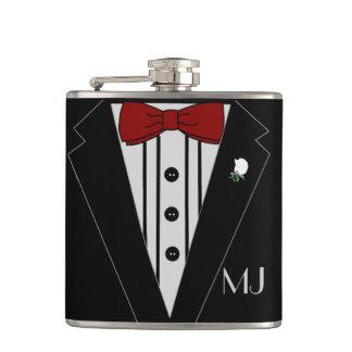 Tuxedo Groomsmen Wedding Hip Flask